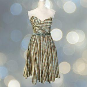 Betsey Johnson Dresses - BETSEY JOHNSON Plaid Strapless Fit & Flare Dress